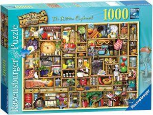 Los mejores puzzles de Colin Thompson - Puzzle de Colin Thompson de The Kitchen Cupboard de 1000 piezas de Ravensburger