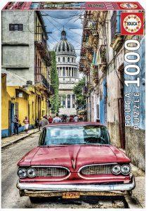 Los mejores puzzles de Cuba - Puzzle de coche en la Habana en Cuba de 1000 piezas de Educa - Puzzles de países