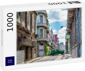 Los mejores puzzles de Cuba - Puzzle de coche en la Habana en Cuba de 1000 piezas de Lais - Puzzles de países