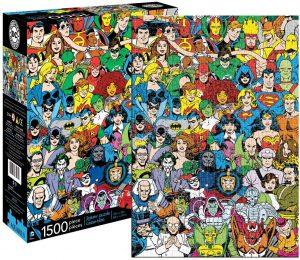 Los mejores puzzles de DC - Puzzle de héroes de Dc de 1500 piezas de Aquarius - Puzzles de personajes de DC