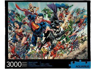 Los mejores puzzles de DC - Puzzle de héroes de Dc de 3000 piezas de Aquarius - Puzzles de personajes de DC