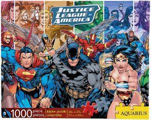 Los mejores puzzles de DC - Puzzle de héroes de Dc de la Liga de la Justicia de 1000 piezas de Aquarius - Puzzles de personajes de DC