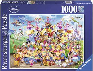 Los mejores puzzles de Disney - Puzzle de Carnaval de Disney de 1000 piezas de Ravensburger - Personajes de Disney