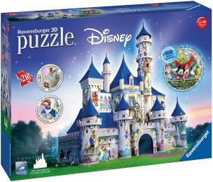 Los mejores puzzles de Disney - Puzzle de Castillo de Disney en 3D de 216 piezas de Ravensburger - Personajes de Disney