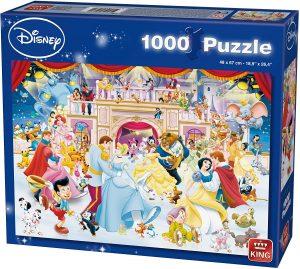 Los mejores puzzles de Disney - Puzzle de Disney sobre hielo de 1000 piezas de KIng - Personajes de Disney