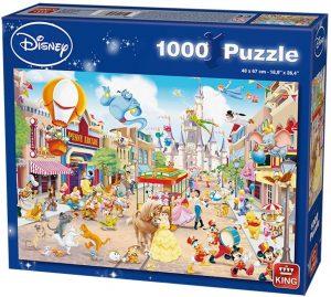 Los mejores puzzles de Disney - Puzzle de Disneyland de Disney de 1000 piezas de King - Personajes de Disney