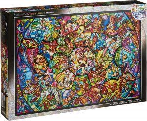 Los mejores puzzles de Disney - Puzzle de Vidriera de Disney de 1000 piezas de Clementoni - Personajes de Disney