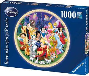 Los mejores puzzles de Disney - Puzzle de circular de personajes de Disney de 1000 piezas de Ravensburger - Personajes de Disney