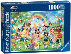 Los mejores puzzles de Disney - Puzzle de cumpleaños de Disney de 1000 piezas de Ravensburger - Personajes de Disney