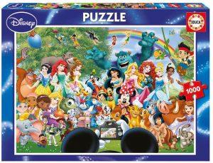 Los mejores puzzles de Disney - Puzzle de foto de personajes de Disney de 1000 piezas de Educa - Personajes de Disney