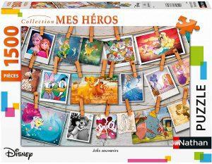 Los mejores puzzles de Disney - Puzzle de fotografías de Disney de 1500 piezas de Nathan - Personajes de Disney