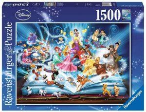 Los mejores puzzles de Disney - Puzzle de libro de Disney de 1500 piezas de Ravensburger - Personajes de Disney