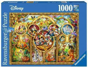 Los mejores puzzles de Disney - Puzzle de lo mejor de personajes de Disney de 1000 piezas de Ravensburger - Personajes de Disney