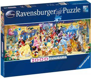 Los mejores puzzles de Disney - Puzzle de panorama de personajes de Disney de 1000 piezas de Ravensburger - Personajes de Disney