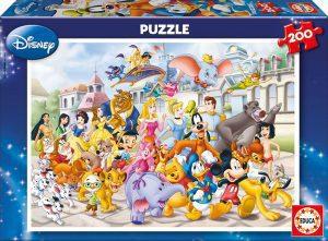 Los mejores puzzles de Disney - Puzzle de personajes de Disney de 200 piezas de Educa - Personajes de Disney