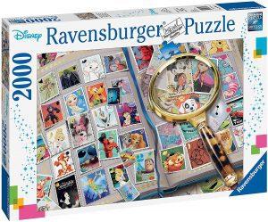 Los mejores puzzles de Disney - Puzzle de sellos de Disney de 2000 piezas de Ravensburger - Personajes de Disney