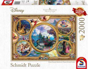 Los mejores puzzles de Disney - Puzzle de sueños de Disney de 2000 piezas de Schmidt - Personajes de Disney