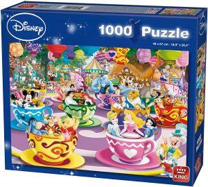 Los mejores puzzles de Disney - Puzzle de tazas de Disney de 1000 piezas de KIng - Personajes de Disney
