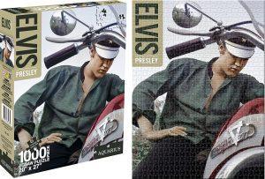 Los mejores puzzles de Elvis Presley - Puzzle de Elvis Presley en moto de 1000 piezas de Aquarius