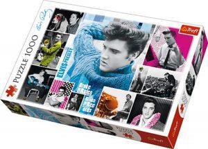 Los mejores puzzles de Elvis Presley - Puzzle de collage de Elvis Presley de 1000 piezas de Trefl
