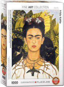 Los mejores puzzles de Frida Kahlo - Puzzle de Frida Kahlo con collar de espinas de 1000 piezas de Eurographics