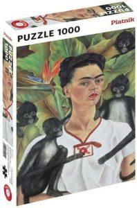 Los mejores puzzles de Frida Kahlo - Puzzle de Frida Kahlo con monos de 1000 piezas de Piatnik