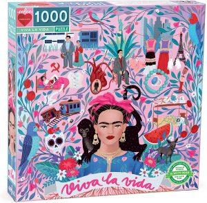 Los mejores puzzles de Frida Kahlo - Puzzle de Frida Kahlo de Viva la Vida de 1000 piezas de eeBoo
