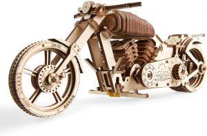 Los mejores puzzles de Harley Davidson - Puzzle de moto en 3D de madera de 189 piezas