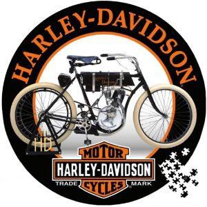 Los mejores puzzles de Harley Davidson - Puzzle redondo de Harley Davidson de 1000 piezas de Logo