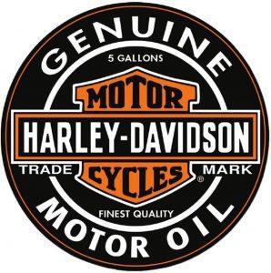 Los mejores puzzles de Harley Davidson - Puzzle redondo de logo de Harley Davidson de 1000 piezas de Logo