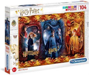 Los mejores puzzles de Harry Potter - Puzzle de Harry Potter, Ron y Hermione de 104 piezas de Clementoni - Personajes del Universo de Harry Potter
