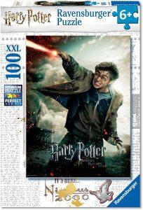 Los mejores puzzles de Harry Potter - Puzzle de Harry Potter lanzando rayos de 100 piezas de Ravensburger - Personajes del Universo de Harry Potter