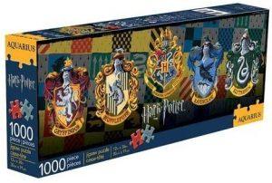 Los mejores puzzles de Harry Potter - Puzzle de emblemas de Hogwarts de 1000 piezas de Aquarius - Personajes del Universo de Harry Potter