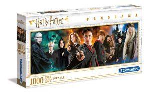 Los mejores puzzles de Harry Potter - Puzzle de panorama de personajes de Harry Potter de 1000 piezas de Clementoni - Personajes del Universo de Harry Potter
