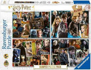 Los mejores puzzles de Harry Potter - Puzzle de personajes de Harry Potter imágenes de 4x100 piezas de Ravensburger - Personajes del Universo de Harry Potter