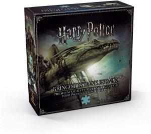 Los mejores puzzles de Harry Potter - Puzzle del Dragón de Gringotts de 1000 piezas de The Noble Collection - Personajes del Universo de Harry Potter