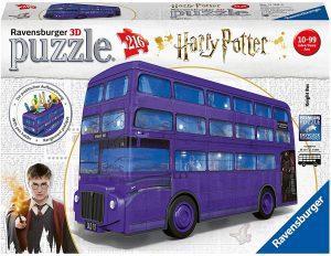 Los mejores puzzles de Harry Potter en 3D - Puzzle de Autobús Noctámbulo en 3D de Harry Potter de Ravensburger de 216 piezas - Puzzles en 3D
