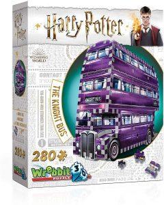 Los mejores puzzles de Harry Potter en 3D - Puzzle de El Autobús Noctámbulo de 280 piezas en 3D de Wrebbit - Puzzles en 3D