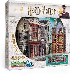 Los mejores puzzles de Harry Potter en 3D - Puzzle de El Callejón Diagón de 450 piezas en 3D de Wrebbit - Puzzles en 3D