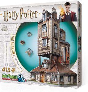 Los mejores puzzles de Harry Potter en 3D - Puzzle de La Madriguera de 415 piezas en 3D de Wrebbit - Puzzles en 3D