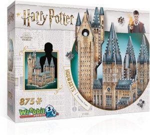 Los mejores puzzles de Harry Potter en 3D - Puzzle de La Torre de la Astronomía de Hogwarts de 875 piezas en 3D de Wrebbit - Puzzles en 3D