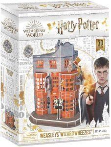 Los mejores puzzles de Harry Potter en 3D - Puzzle de Tienda de Articulos de Broma Weasley's de Harry Potter en 3D - Puzzles en 3D