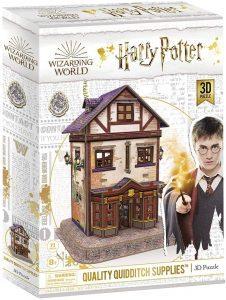 Los mejores puzzles de Harry Potter en 3D - Puzzle de Tienda de Articulos de calidad de Quidditch de Harry Potter en 3D - Puzzles en 3D