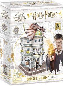Los mejores puzzles de Harry Potter en 3D - Puzzle de el Banco de Gringotts de Harry Potter en 3D - Puzzles en 3D