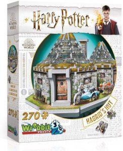 Los mejores puzzles de Harry Potter en 3D - Puzzle de la Cabaña de Hagrid de 270 piezas en 3D de Wrebbit - Puzzles en 3D