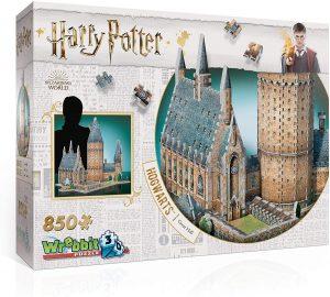 Los mejores puzzles de Harry Potter en 3D - Puzzle del Gran Salón de Hogwarts de 850 piezas en 3D de Wrebbit - Puzzles en 3D