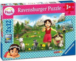 Los mejores puzzles de Heidi - Puzzle de Heidi de 2x12 piezas de Ravensburger