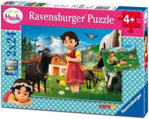 Los mejores puzzles de Heidi - Puzzle de Heidi de 2x24 piezas de Ravensburger