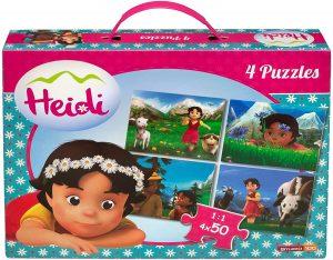 Los mejores puzzles de Heidi - Puzzle de Heidi de 4x50 piezas de Studio