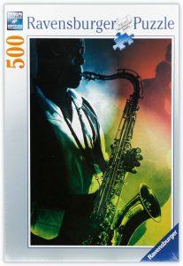 Los mejores puzzles de Jazz - Puzzle de Jazz saxofón de 500 piezas de Ravensburger- Puzzles de Música